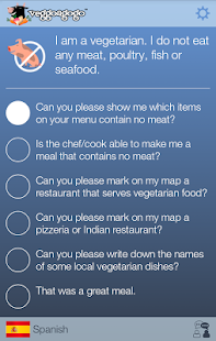 Vegetarian Travel Translator- screenshot thumbnail