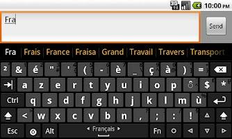 Screenshot of French dictionary (Français)