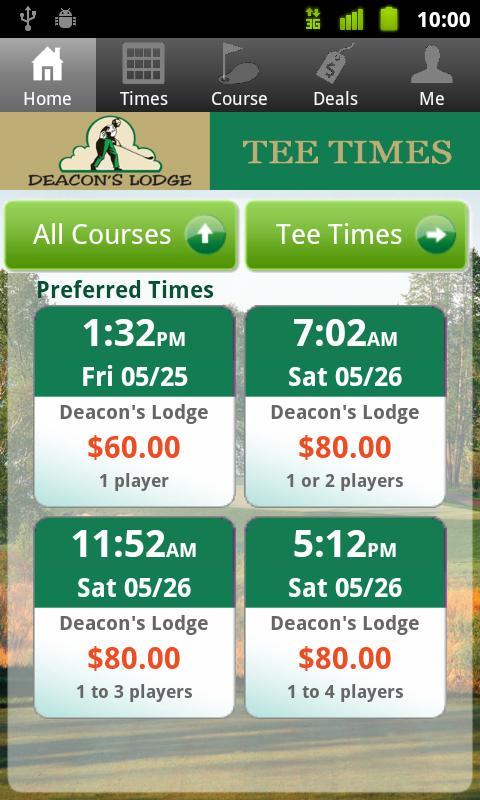 Grand View Golf Tee Times - screenshot