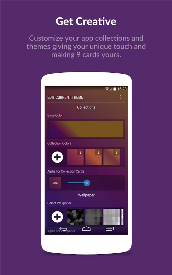 9 Cards Home Launcher - screenshot