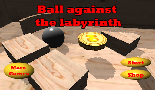 Ball against the labyrinth