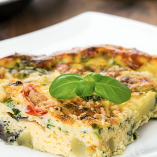 Slow Cooker Spinach and Cheese Frittata.
