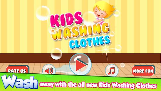 Kids Washing Clothes