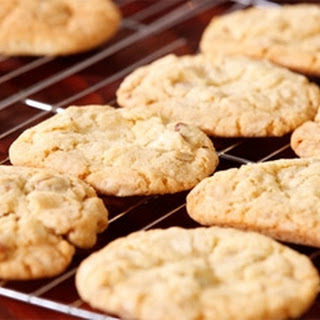 Pecan And White Chocolate Chip Cookies.