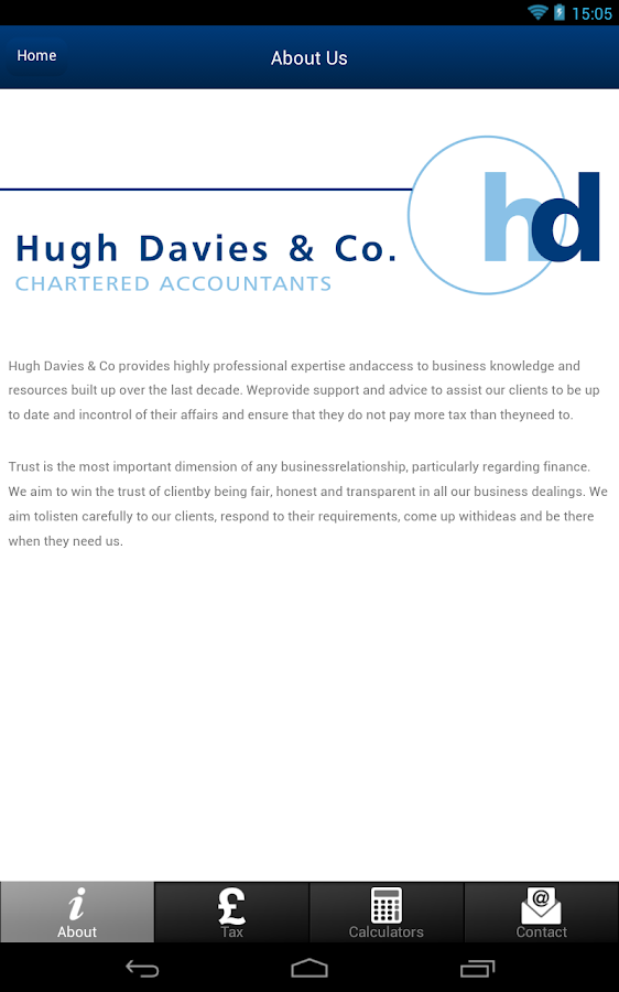 Hugh Davies & Co- screenshot