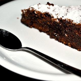 Dark Chocolate and Almond Cake.
