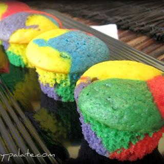 Rainbow Bright Cupcakes.