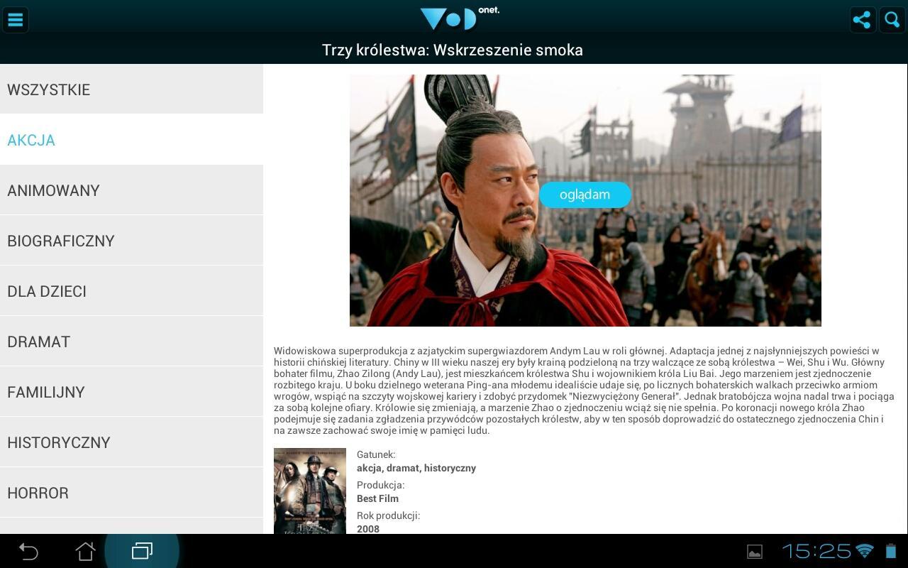 VoD Onet - screenshot