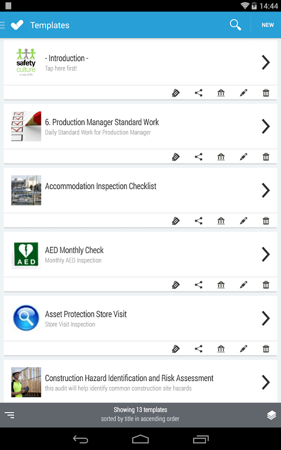 iAuditor - Safety Checklists - screenshot