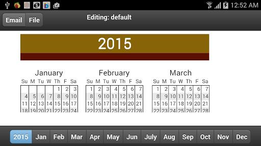 2015 Calendar Memo