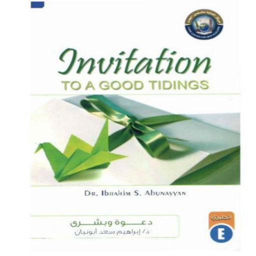 Invititaion to a good tidings