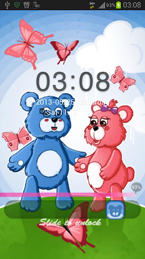 無料个人化AppのロッカーテーマテディベアGO|HotApp4Game