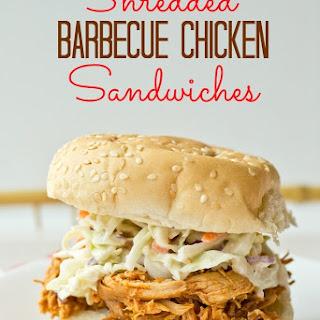 Shredded Barbecue Chicken Sandwiches Recipe