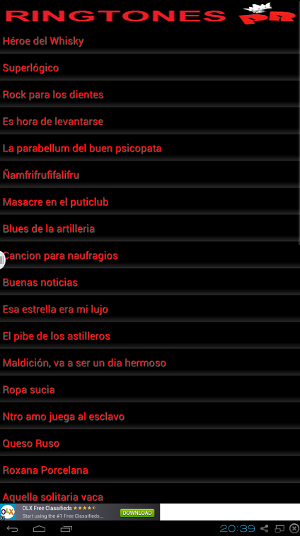 Ringtones Riffs Los Redondos - screenshot