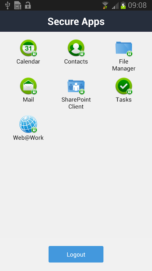 Mobile@Work - screenshot
