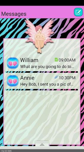 ZebraPixie GO SMS THEME