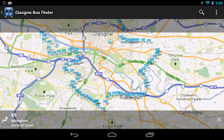Screenshot of Glasgow Bus Finder