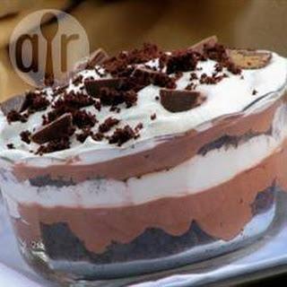 Chocolade Trifle Met Brownies
