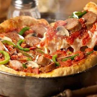 Italian Sausage Deep Dish Pizza.