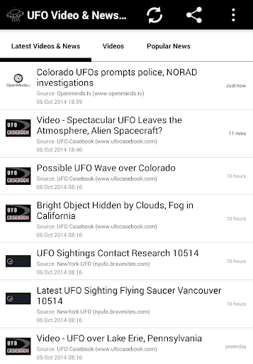 UFO Video News Links
