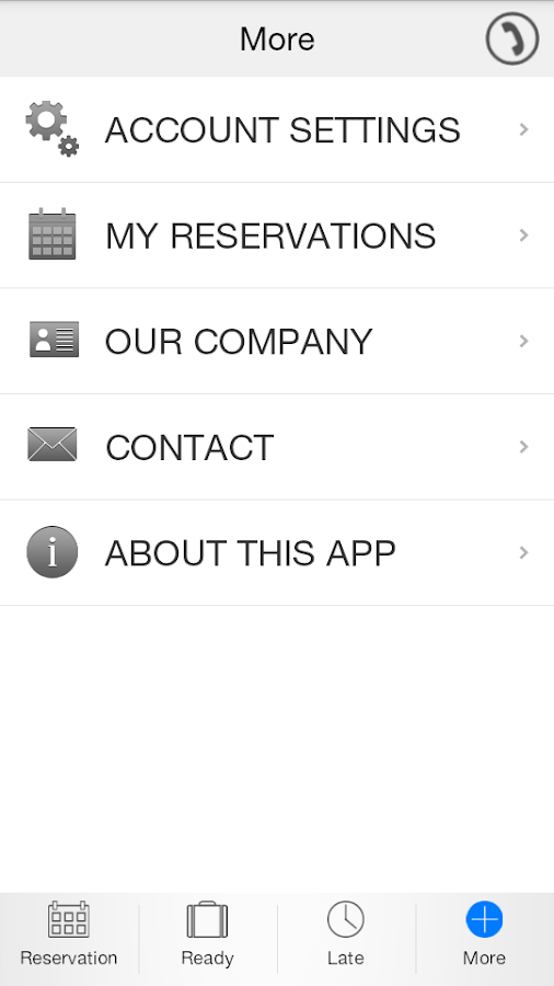 The Limousine App - screenshot