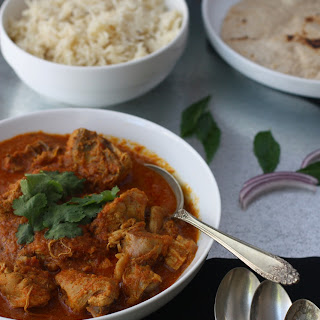ACHARI CHICKEN - Chicken Curry simmered in pickling spices