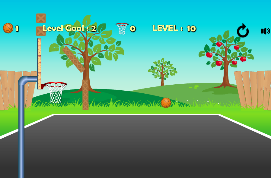 Basketball Trick Shots Game- screenshot