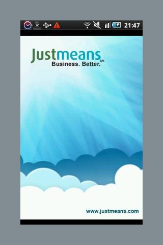 Justmeans - CSR & Green update - screenshot
