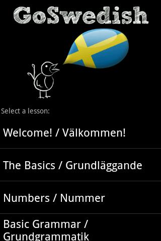 GoSwedish - Learn Swedish!- screenshot