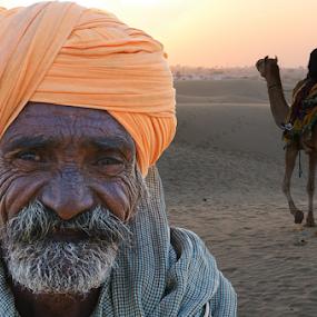 Desert face by Kaushik Dolui - People Portraits of Men ( people )