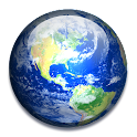 Rotating Earth 3D Wallpaper icon
