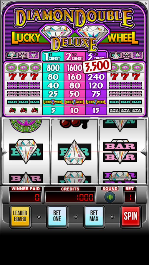 double diamond deluxe slot machine strategy poker