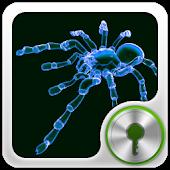 GO Locker Neon Blue Spider
