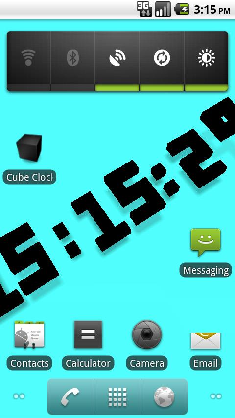 Cube Clock- screenshot