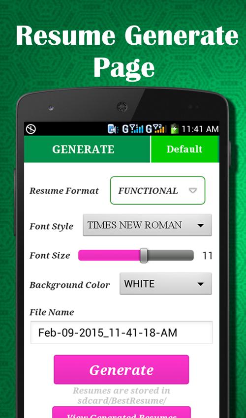 easy resume builder cv jobs resume maker free android apps on