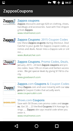 Coupons for Zappos