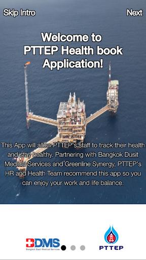 PTTEP Health Book Application