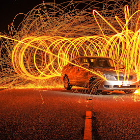 Light painting  by Agha Rafay - Abstract Light Painting ( car, instagram, fire work, light painting, automobile, photo, photography )