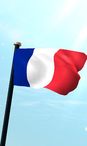 フランスフラグ3D無料ライブ壁紙