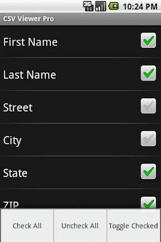 CSV Viewer Pro Screenshot