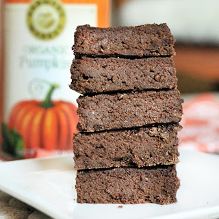 Chocolate Pumpkin-Pie Brownies.
