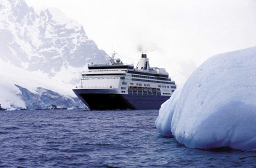 Holland-America-Ryndam-Antarctica - Holland America's Ryndam sails through the Lemaire Channel of Antarctica.