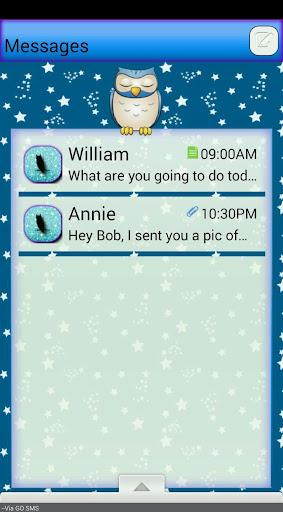 OwlsNStars GO SMS THEME