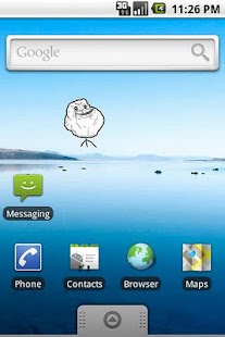 Forever Alone SMS Widget - screenshot thumbnail