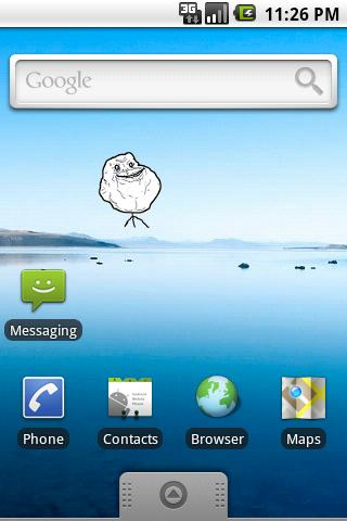 Forever Alone SMS Widget - screenshot
