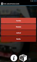 Screenshot of Info Jadwal KRL Kereta Listrik