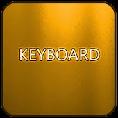 Orange Glass Keyboard Skin