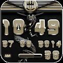 dragon digital clock beige icon