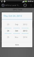 Screenshot of GPS Local Time Converter