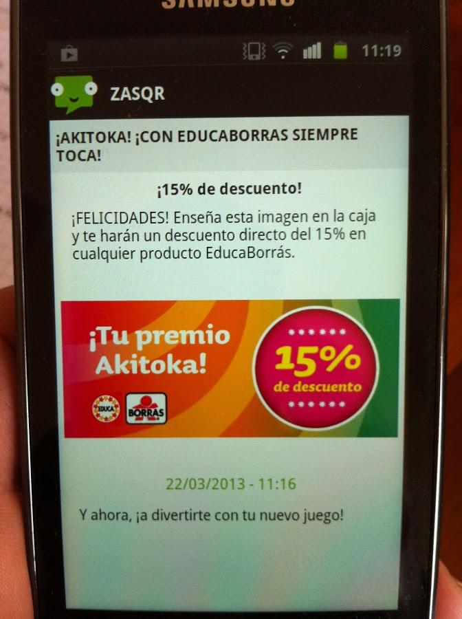 Zasqr QR reader- screenshot